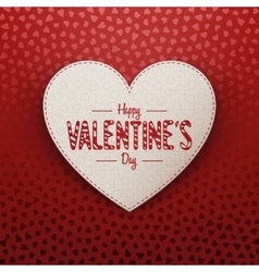 Valentines day realistic greeting paper card vector