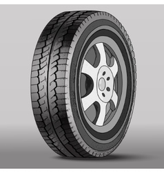 Car Wheel with Disk Brake vector image