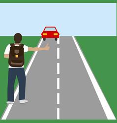 autostop travel vector image