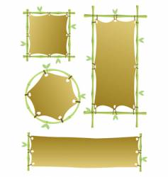 bamboo banners vector image
