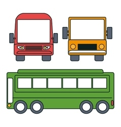 bus icon set design vector image