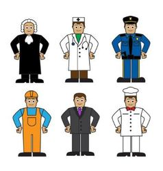 Cartoon set of people of different professions vector image vector image