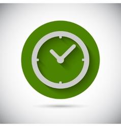 Clock watch flat icon vector