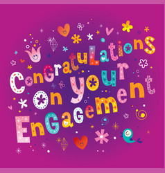 Congratulations on your engagement vector
