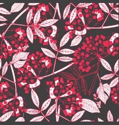 Creeper berries seamless pattern vector