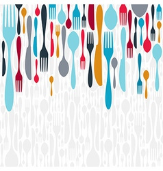 Cutlery silhouette icons background vector image vector image