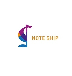 development creative logo note ship vector image
