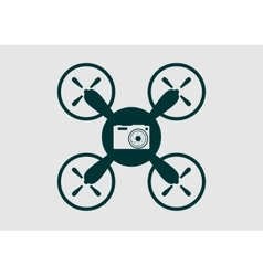 Drone quadrocopter icon Digital camera symbol vector image