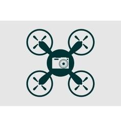 Drone quadrocopter icon digital camera symbol vector