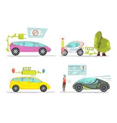 Electro car concept vector