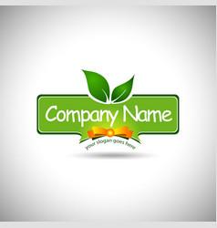 Food Label Logo Design vector image vector image