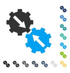 Gear integration icon vector