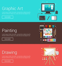 Graphic Art Painting Drawing Flat Design Concepts vector image vector image