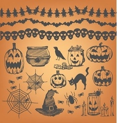 Halloween party design element vector image