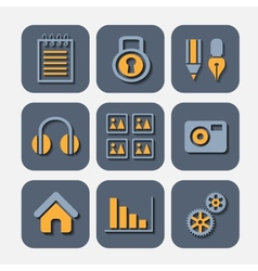 Icons markers vector image vector image