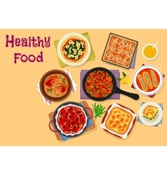 Italian cuisine lunch icon for healthy food design vector