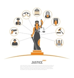 Lady justice concept vector