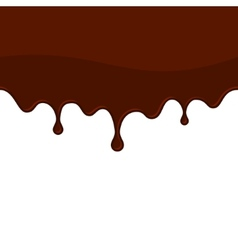 Melted Chocolate or Blood Seamless Drips vector image