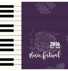 Music piano festival poster vector