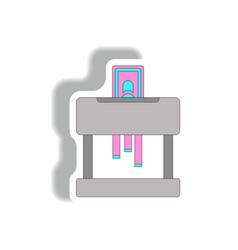 Paper shredding machine in vector