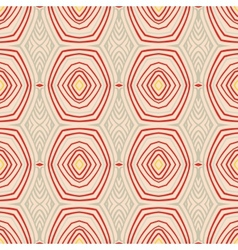Retro pattern with oval shapes in 1950s style vector