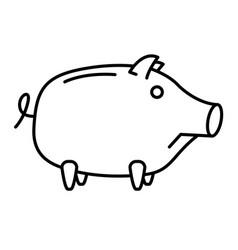 Sad piggy bank or money box vector