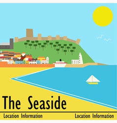 Seaside town vector