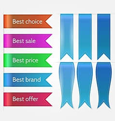 set of sale ribbons vector image