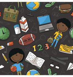 Teaching kids background vector image