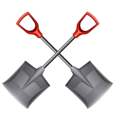 Two shovels vector