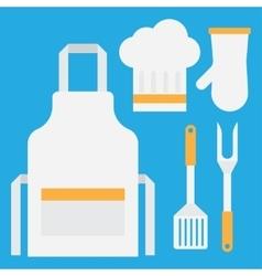 Grill tools set vector