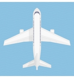 Airplane in the air vector