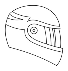 Motorcycle helmet icon outline style vector