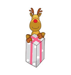 A gift box stand on vector
