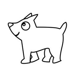 Cute little dog mascot vector