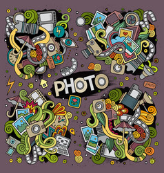 colorful photo set of doodles designs vector image