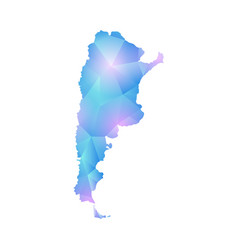 Map of argentina design polygon vector