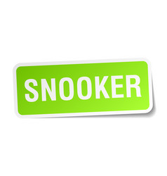 Snooker square sticker on white vector