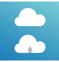 Cartoon clouds for design vector image