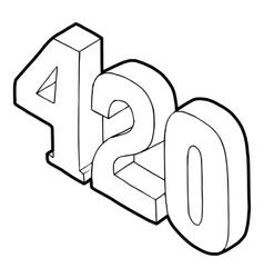 420 cannabis smoking time icon vector