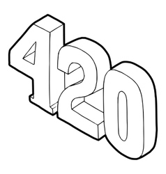 420 cannabis smoking time icon vector image