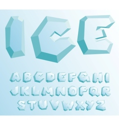 Ice alphabet vector