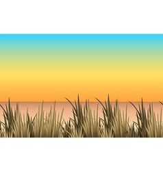 Nature scene with sand and grass vector