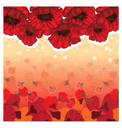Cute poppies card vector