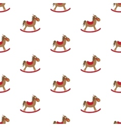 Rocking horse pattern vector