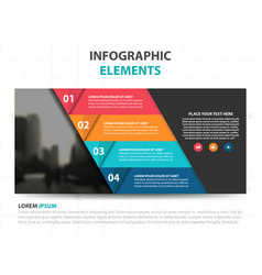 Abstract triangle business infographics elements vector