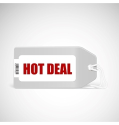 Blank price tag isolated on white with text Hot vector image vector image