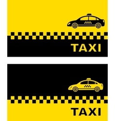business card with taxi car vector image vector image
