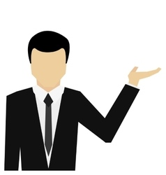 Businessman open hands icon vector