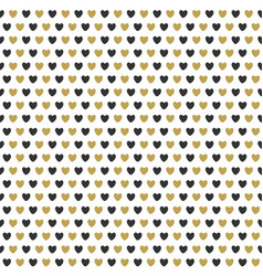 Celebration seamless pattern with gold hearts vector